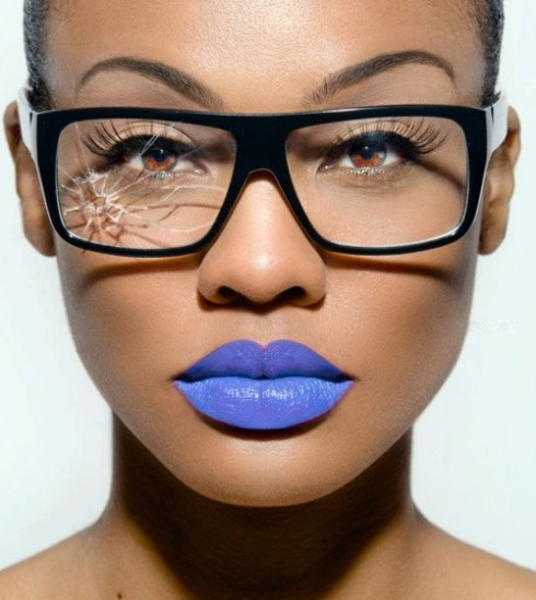 Blue Lipstick!