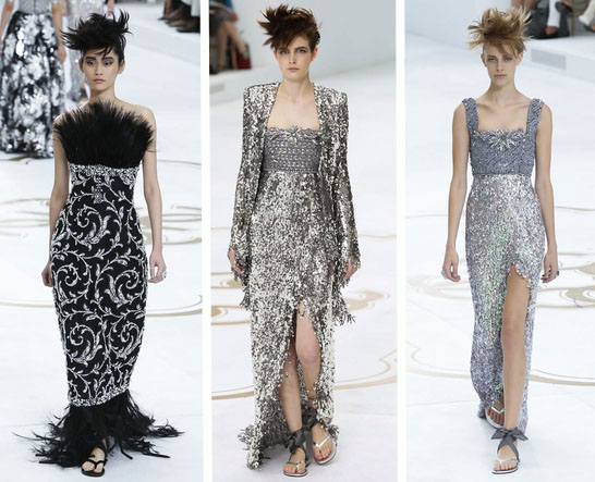 Varied Looks from Chanel Couture F2014