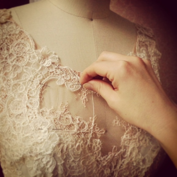 A Close-Up of Handwork on A Leanne Marshall Dress