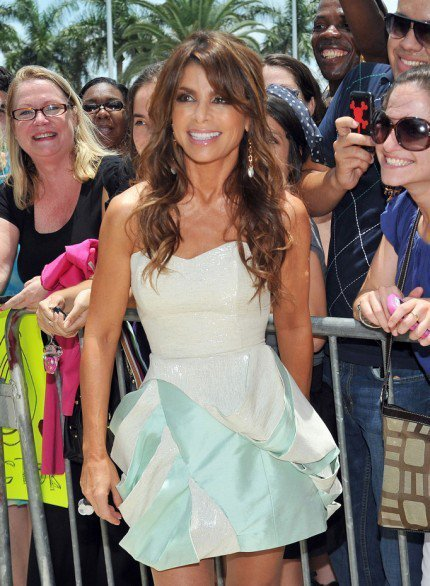Paula Abdul in a Leanne Marshall Dress