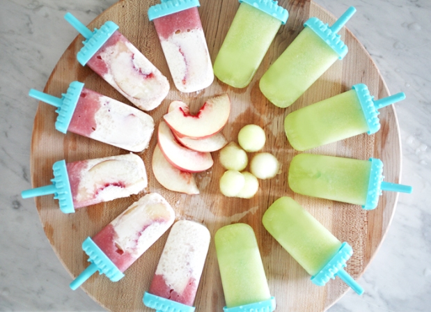 Melon and Peach +Coconut Creamsicles