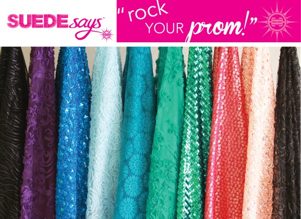 "Suede Says ""Rock Your Prom"" Fabrics for JoAnn Fabric and Craft Stores"
