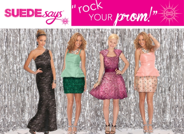 "Suede Says Brand ""Rock Your Prom"" Designs"