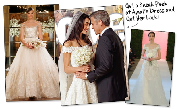Amal Alamudin's Oscar De La Renta's Wedding Dress