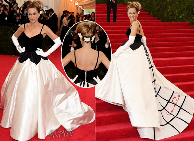 Sarah Jessica Parker in Oscar De La Renta at the Met Ball this year.