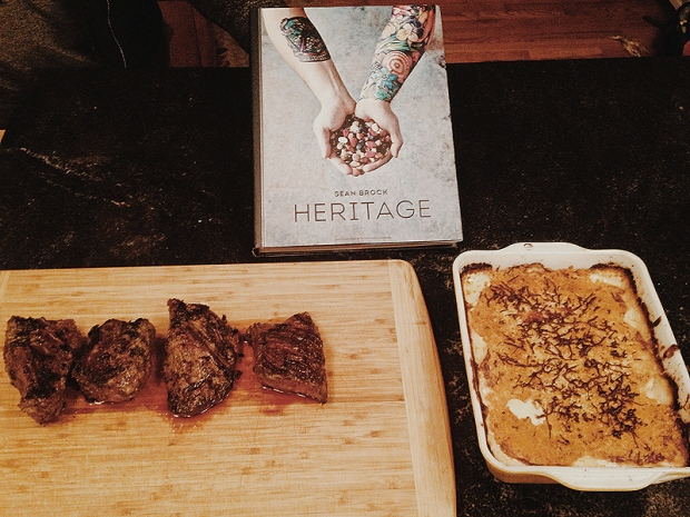 Sean Brock's Grilled Hangar Steak and Vidalia Onion Gratin Ingredients