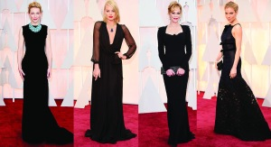 oscars 2015 black gowns