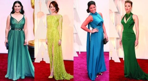 Oscars 2015 Green Gowns