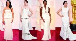 Oscars 2015 White Gowns