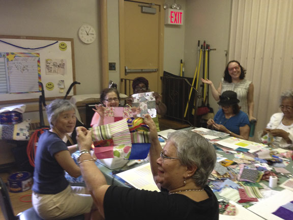 Our quilting class at the Prospect Hill Senior Center