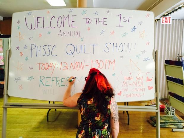 quilt show sign